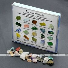 20pcs Natural Stone Mini Mimeral Gemstone Quartz Crystal Display Art Ornaments