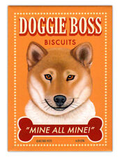 Retro Dogs Refrigerator Magnets - Shiba Inu Biscuits - Vintage Advertising Art