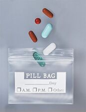 The Pill Bag Re-closable Zip-lock Bags for Pills and Medication (100 Count)