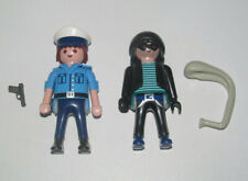 Playmobil Lot 2 Personnage Policier + Bandit Voleur Cambrioleur + Accessoires