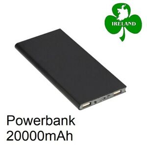 20000mAh Power Bank Charger 2 USB Ports Battery Charging iPhone Samsung Huawei
