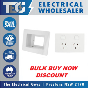 Recessed Power Point Box Wall Plate TV AV & Double PowerPoint GPO Included