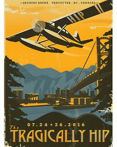 "Tragically Hip - Concert Poster (Roger Centre, Vancouver 2016) - 8""x10"" Photo"