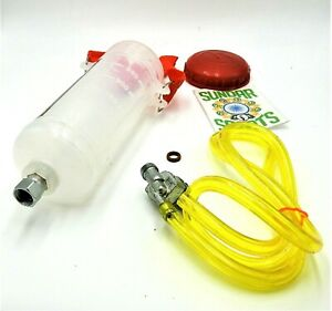 RED MOTORBIKE/SCOOTER. AUXILIARY 300ml FUEL/PETROL TANK CARB' BALANCING TOOL