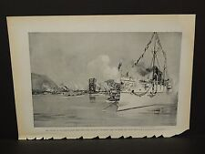 Harper's Weekly Single Pg. Opening of Harlem River Ship Canal C1890s B4#24