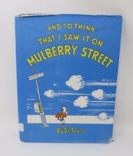 And to Think That I Saw it on Mulberry Street Dr. Suess 1937 HB/DJ 1st ED 17th