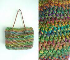 Vintage Purse Crochet Purse 1990s Soft Sweater Bag Handbag Double Handles