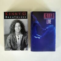Kenny G - Lot of 2 Cassettes - Breathless + Live