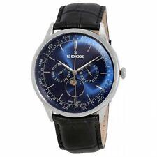 NEW Edox Les Vauberts Men's Moonphase Quartz Watch - 40101 3C BUIN