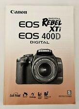 Canon EOS Digital Rebel XTi 400D Manual - Spanish