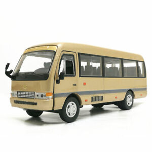 1:32 Scale Toyota Coaster Bus Model Car Diecast Vehicle Gift Toy Collection Boys
