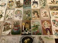 Lot of 25 Easter Holiday~Vintage~Postcards with Chicks~Bunnies~Flowers-a778
