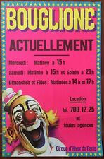 Affiche BOUGLIONE Cirque d'hiver de PARIS