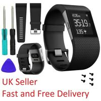 Fitbit Surge Replacement Silicone Wristband Strap Watch Band Metal Buckle Screws