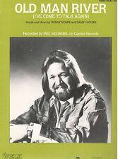 """MEL McDANIEL-OLD MAN RIVER"" PIANO/VOCAL/GUITAR SHEET MUSIC-VERY RARE-BRAND NEW!"