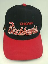 Vintage Chicago Blackhawks Hat Cap Wool NHL Sports Specialties Fitted Size 7 1/4