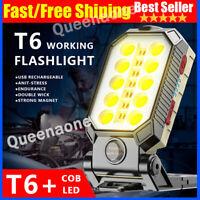 Portable COB LED Work Light Car Garage Mechanic USB Rechargeable Torch Lamp US