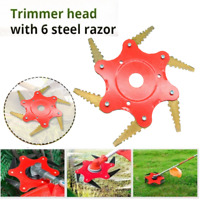 6T Blade 65Mn Manganese Steel Brush Cutter Lawn Mower Grass Trimmer Head Disc