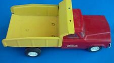 ~Vintage~Pressed Steel Tonka Jeep Dump Truck (Red & Yellow)Collector's condition