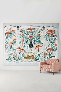 Anthropologie Tiger's Tale Mural Mir Dinara Folkloric Whimsical Animals 81 sf