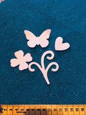 Herz 💓 Blume 🌷 Schmetterling 🦋 Deko FILZ Scrapbooking Stanzteile Tischdeko