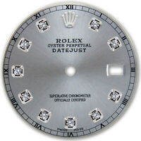 REFINED MENS SS DATEJUST SLATE GREY DIAMOND DIAL RT FOR ROLEX-36