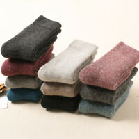 Super Thicker Solid Socks Merino Wool Rabbit Socks Winter Warm Women Socks