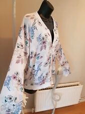 Women's Gorgeous Floral Silky Jacket Light  By Select UK 16