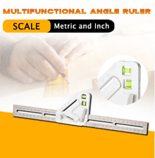 Revolutionary Carpentry Multi-functional Multi-angle Measuring Ruler Tool US