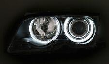 PHARES ANGEL EYES NOIR CCFL LED BMW SERIE 3 E46 CABRIOLET 99-03 320 323 325