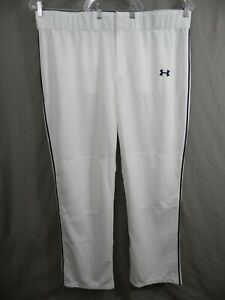 UNDER ARMOUR HEAT GEAR Mens 3XL LOOSE - Baseball - Softball Pants WHITE & BLACK