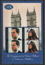 Antigua & Barbuda 2010 MNH Royal Engagement 4v M/S II Prince William Kate