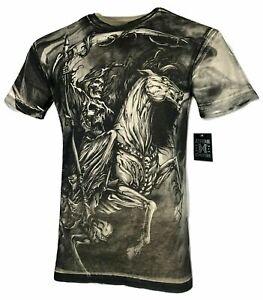 Xtreme Couture Affliction Men's T-Shirt DARK HORSE Skull Tattoo Biker S-5XL