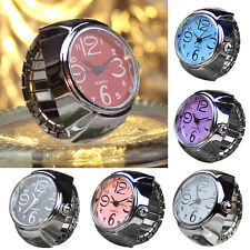 Dial Quartz Analog Watch Creative Steel Cool Elastic Quartz Finger Ring Watches