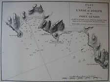 PLAN ANSE ST JOSEPH, PORT GENOIS,1862,GAUTTIER,PLANS PORT RADES MER MEDITERRANEE