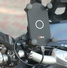 Motorcycle mobile phone holder with Qi wireless charger QiTech qitech