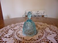 FENTON  AQUA OPALESCENT LILY OF THE VALLEY BELL