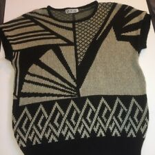 Prime Women's Sweater ~ Black & Brown Knit Top ~ Sweater ~ High Quality ~ Medium