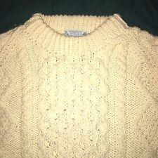 Mens XL Womens 2X Tara Fashions 100% New Wool Ireland Irish Fisherman Sweater