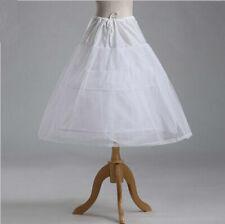 child Flower Girl 2-Hoop A-Line Crinoline short Petticoat Slip Underskirt dress