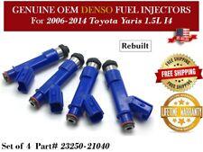 4 Fuel Injectors OEM Denso for 2006-2014 Toyota Yaris 1.5L #23250-21040