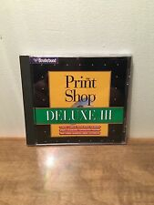 Broderbund Print Shop Deluxe III Windows 95/Windows 3.1 Desktop Graphics