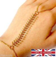 Rib Design Bracelet Bangle Slave Chain Hand Harness Finger Ring FREE UK DELIVERY