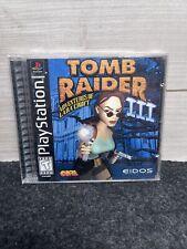 Tomb Raider Iii: Adventures of Lara Croft 3 PlayStation Ps1 Game Manual Tested