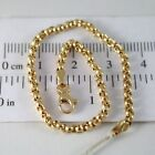 BRACELET OR JAUNE OU BLANC 750 18K ROLO, CERCLES 2.5 MM, 19 CM, MADE IN ITALY