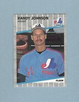 1989 Fleer Randy Johnson Montreal Expos 381 Baseball Card Marlboro RC HOF