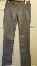 Inc Denim sz 4 Gray Blue Snakeskin Print Regular Fit Jeans Skinny Leg Pants