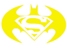 Batman vs Superman logo symbol Trackpad laptop macbook mac air toolbox wall 6""