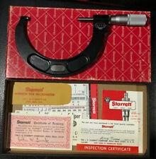 "Starrett 216FL 3"" - 4""  Digital Micrometer & Case 0.001"" Machinist Tool Outside"