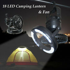 2in1 18 LED Camping Fan&Light Hanging Tent Lamp Lantern Fishing Emergencies